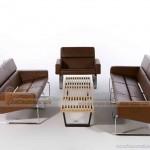 Mẫu ghế sofa bọc da nâu bóng phong cách trẻ trung sang trọng – Mã: SDV-067