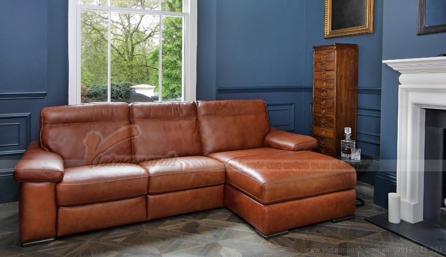 Nét độc đáo trong mẫu thiết kế ghế sofa góc chất liệu da bò 2016 - 01