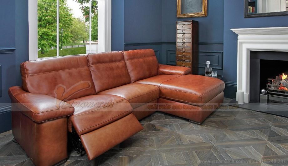 Nét độc đáo trong mẫu thiết kế ghế sofa góc chất liệu da bò 2016 - 02