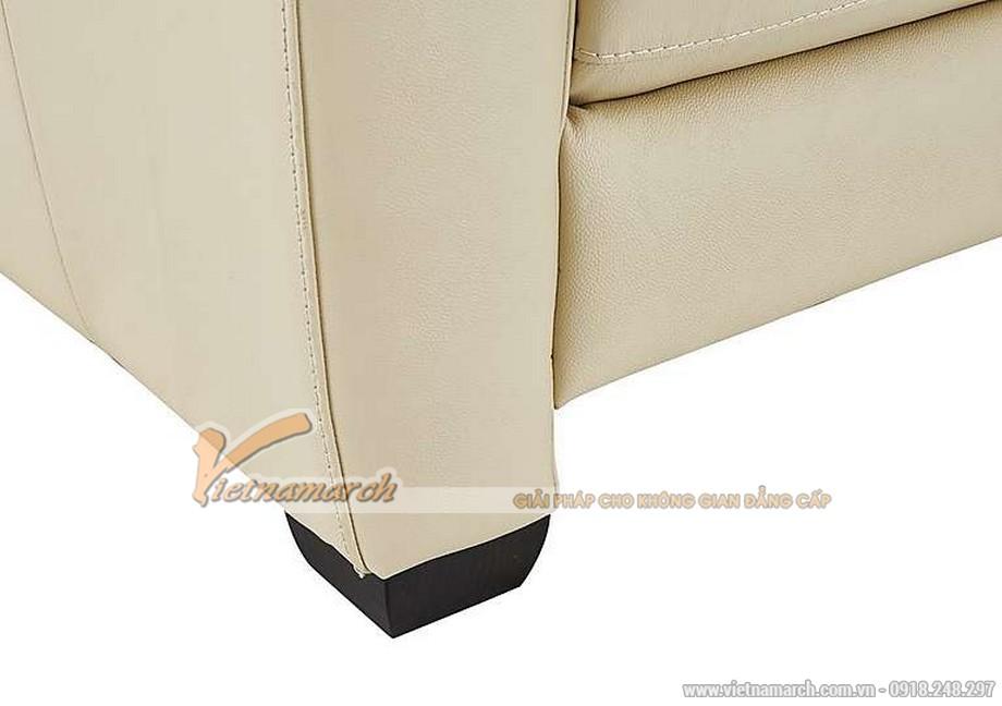 Hình ảnh mẫu ghế sofa văng da trắng sữa cực chất - 03