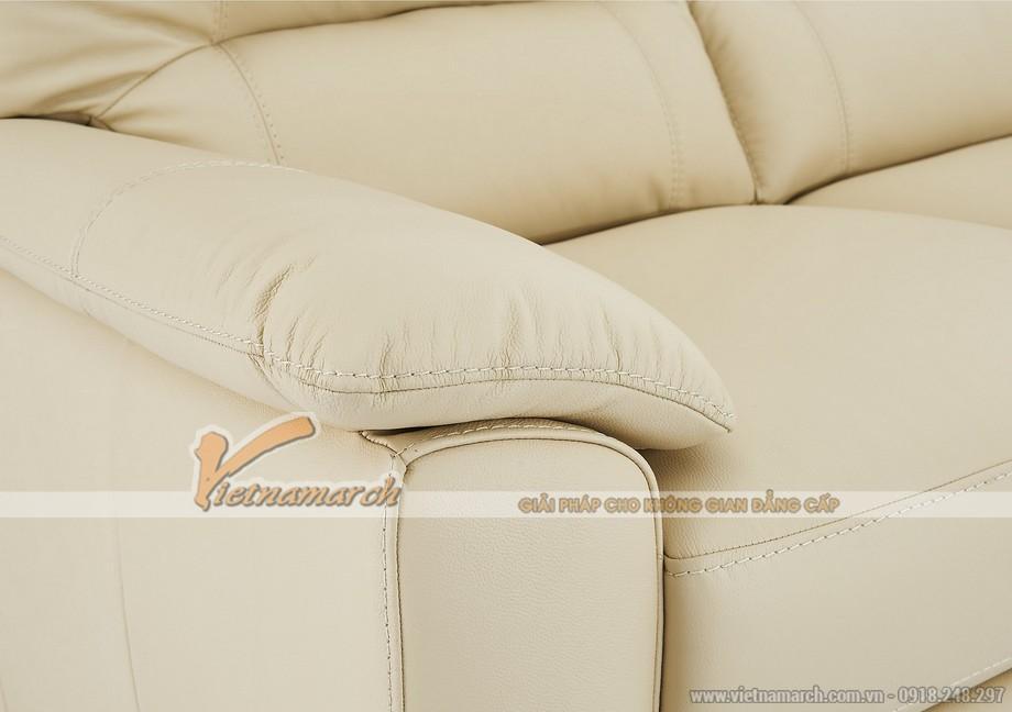 Hình ảnh mẫu ghế sofa văng da trắng sữa cực chất - 04