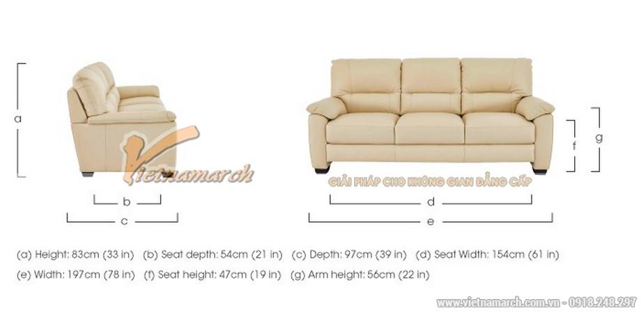 Hình ảnh mẫu ghế sofa văng da trắng sữa cực chất - 05
