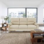 Nổi bật với mẫu ghế sofa văng da trắng sữa cực chất – Mã: SDV-072
