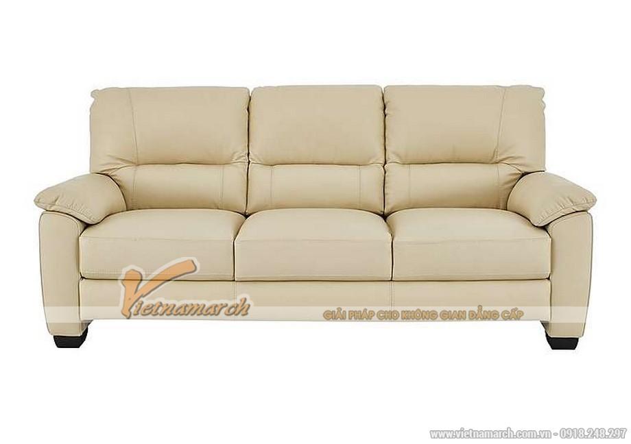 Hình ảnh mẫu ghế sofa văng da trắng sữa cực chất - 02