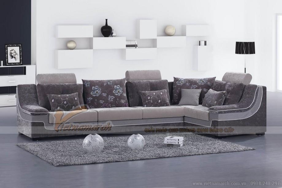 sofa nỉ cao cấp cho phòng khách