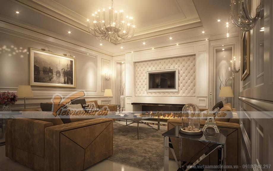 Hiện đại và kêu sa cổ điển với những nội thất hàng hiệu trong căn phòng khách