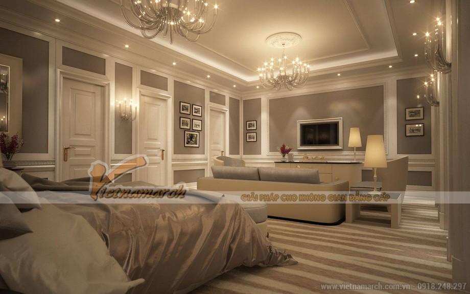 Sa hoa và mỹ miều là những từ thể hiện trong phòng ngủ hoàng gia này