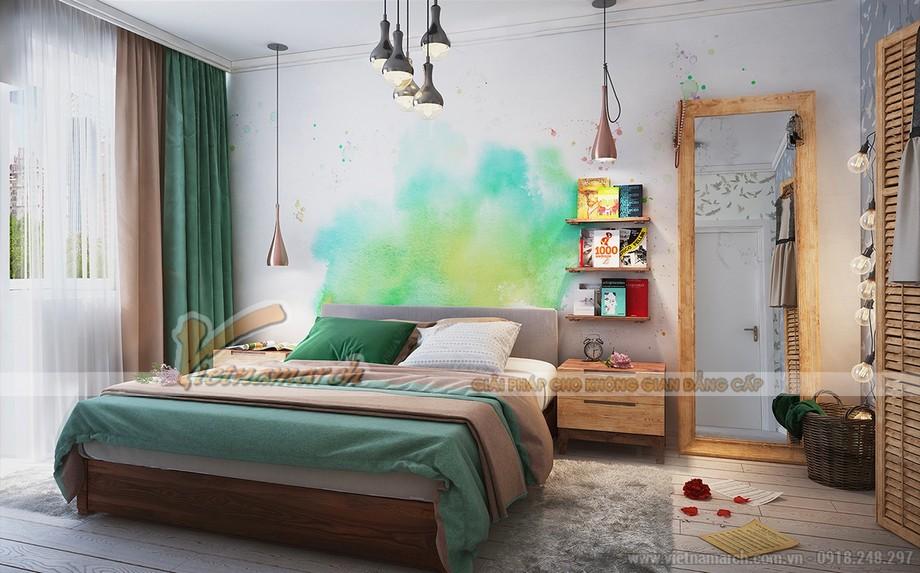 Độc đáo vintage cổ điển với phong cách nghệ thuật phòng ngủ phá cách