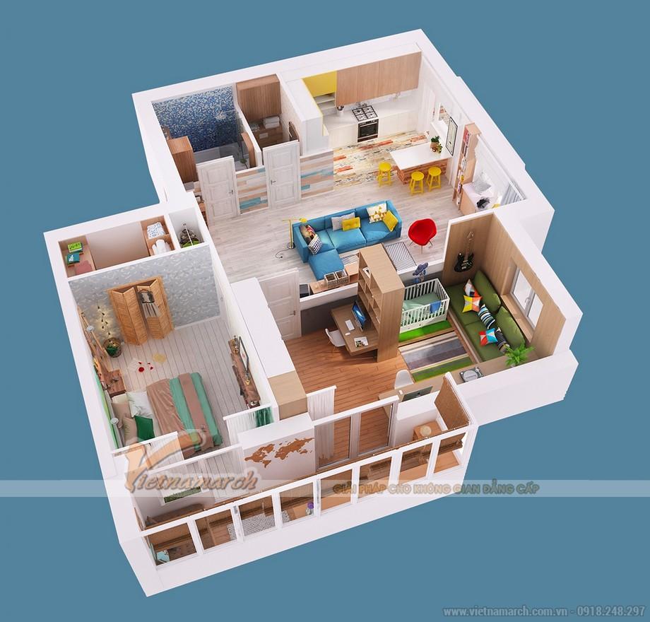 Tổng thể ngôi nhà như mơ của gia đình họa sỹ