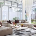 Mẫu thiết kế phòng khách đẹp sang trọng dành riêng cho biệt thự Vinhomes Riverside