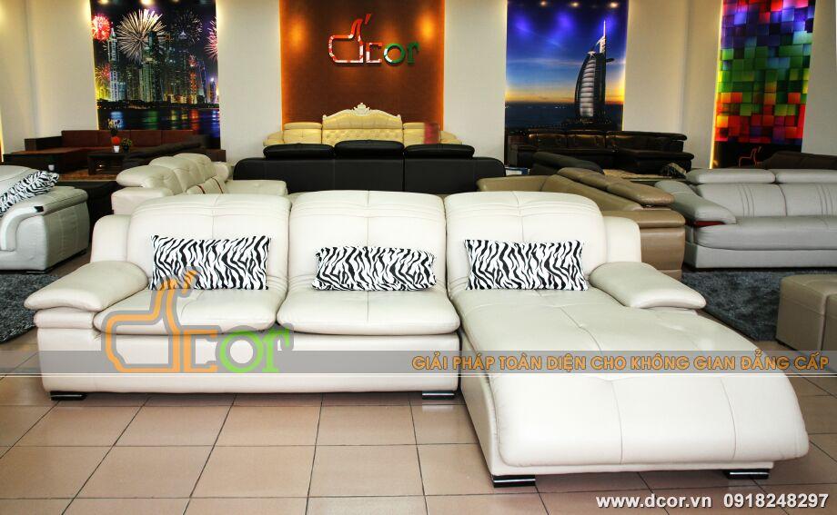 Mẫu ghế sofa da góc - Mã: DG-02