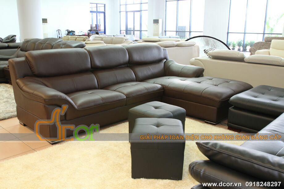 Mẫu ghế sofa da góc – Mã: DG-08