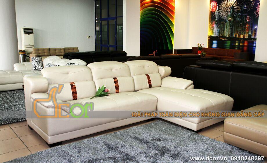 Mẫu ghế sofa da góc – Mã: DG20