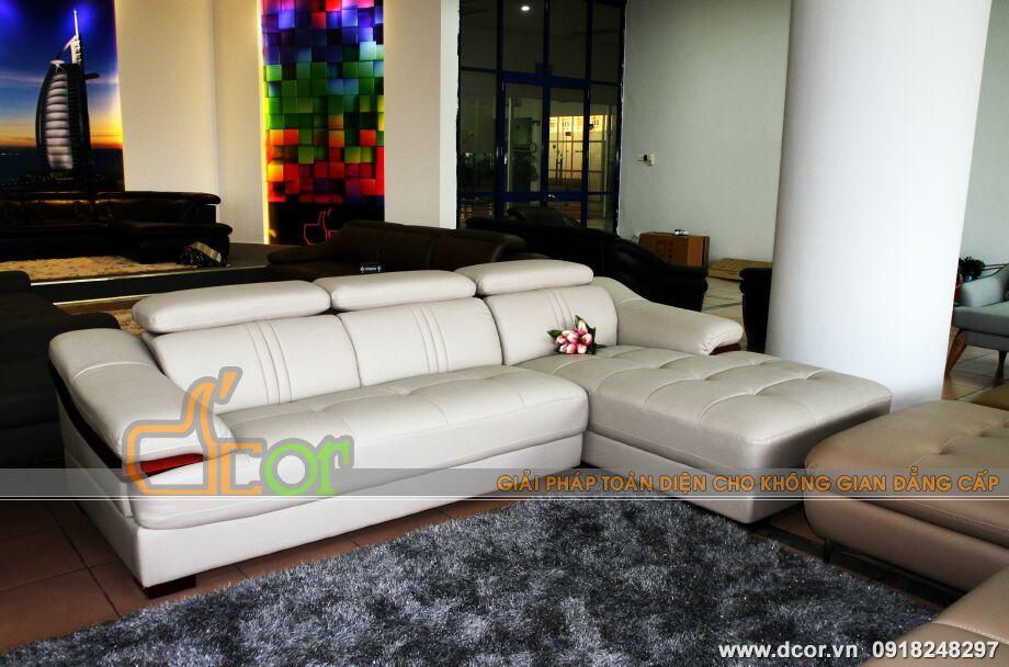 Mẫu ghế sofa da góc – Mã: DG41