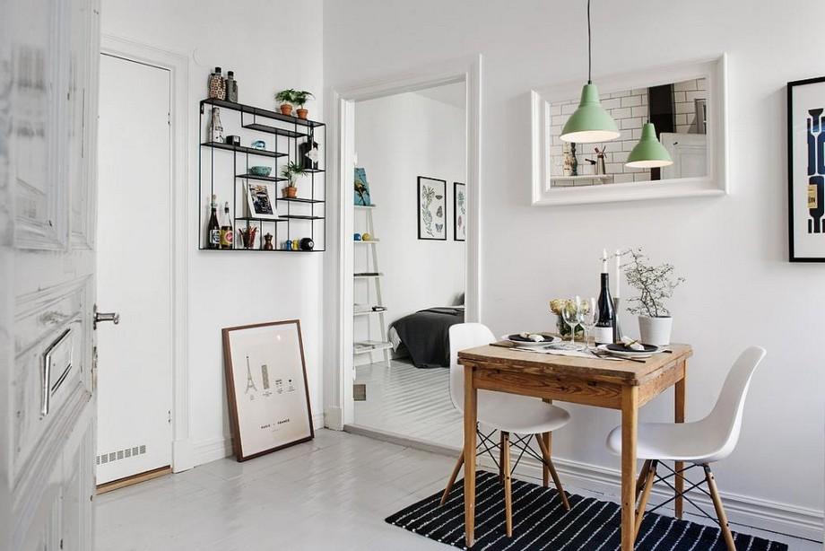Sử dụng nội thất đèn chùm nhỏ sẽ làm cho căn phòng gọn hơn