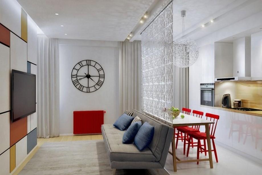 Sử dụng nội thất và những phụ kiện nhỏ sẽ làm căn phòng đỡ hẹp và chật hơn