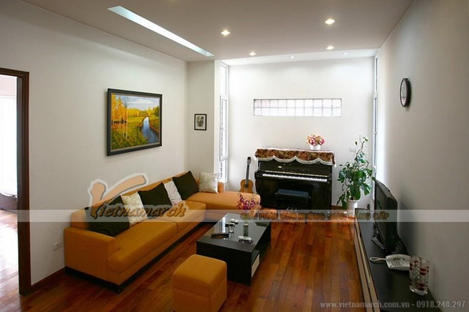 Mẫu trần thạch cao cho phòng khách căn hộ chung cư D'.Le Roi Soleil Quảng An - 06