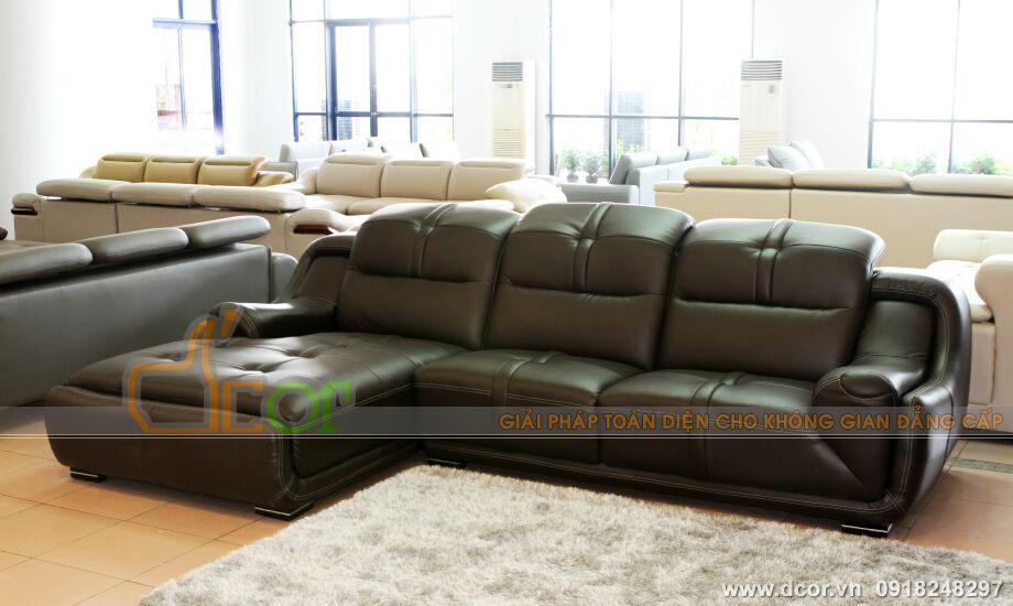 Mẫu ghế sofa da góc - Mã: DG-01