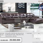 Mẫu ghế sofa da góc – Mã: DG-02 – Nội thất phòng khách mềm mại êm ái