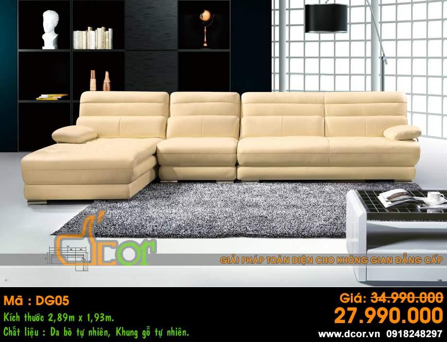 Mẫu ghế sofa da góc – Mã: DG-05