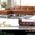 Mẫu ghế sofa da góc – Mã: DG-06