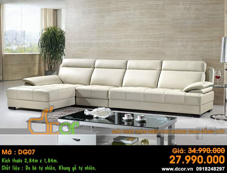 Mẫu ghế sofa da góc – Mã: DG-07
