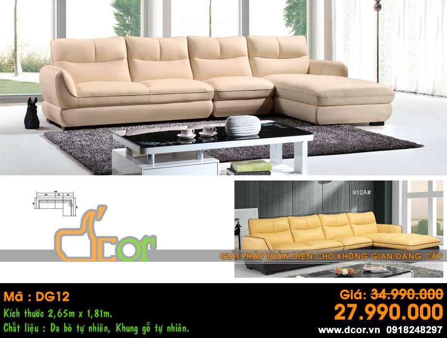 Mẫu ghế sofa da góc – Mã: DG-12