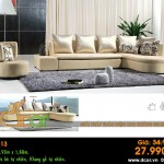 Mẫu ghế sofa da góc – Mã: DG-13
