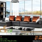 Mẫu ghế sofa da góc – Mã: DG17