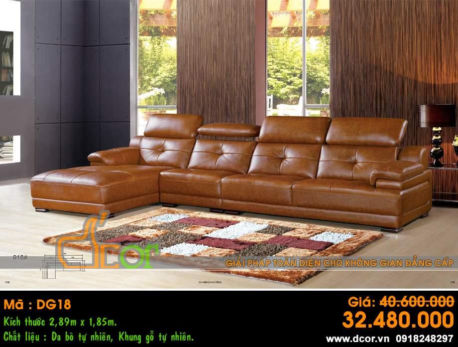 Mẫu ghế sofa da góc – Mã: DG18
