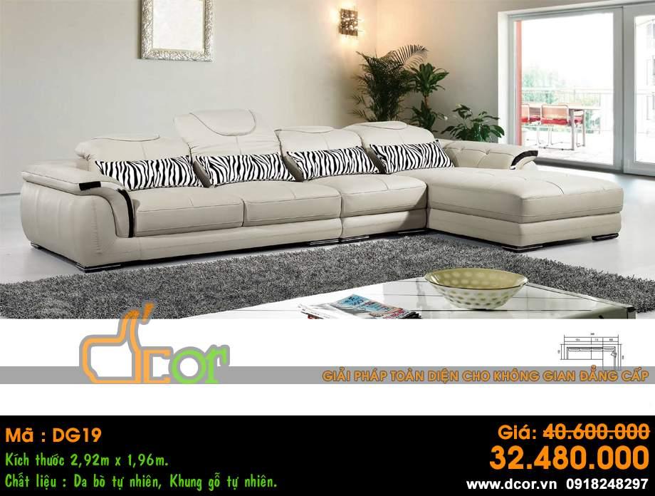 Mẫu ghế sofa da góc – Mã: DG19