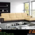 Mẫu ghế sofa da góc – Mã: DG21