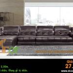 Mẫu ghế sofa da góc – Mã: DG22