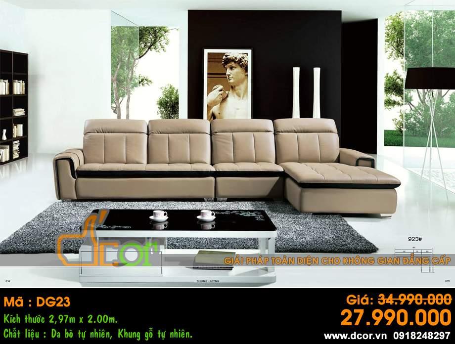 Mẫu ghế sofa da góc – Mã: DG23
