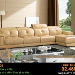 Mẫu ghế sofa da góc – Mã: DG25