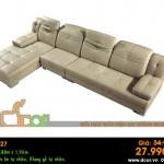 Mẫu ghế sofa da góc – Mã: DG27