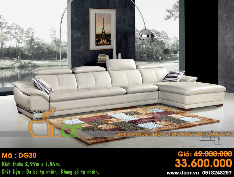 Mẫu ghế sofa da góc – Mã: DG30