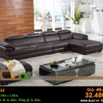 Mẫu ghế sofa da góc – Mã: DG33