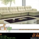Mẫu ghế sofa da góc – Mã: DG35
