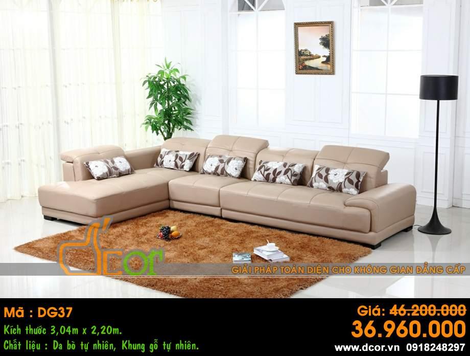 dg37Mẫu ghế sofa da góc – Mã: DG37