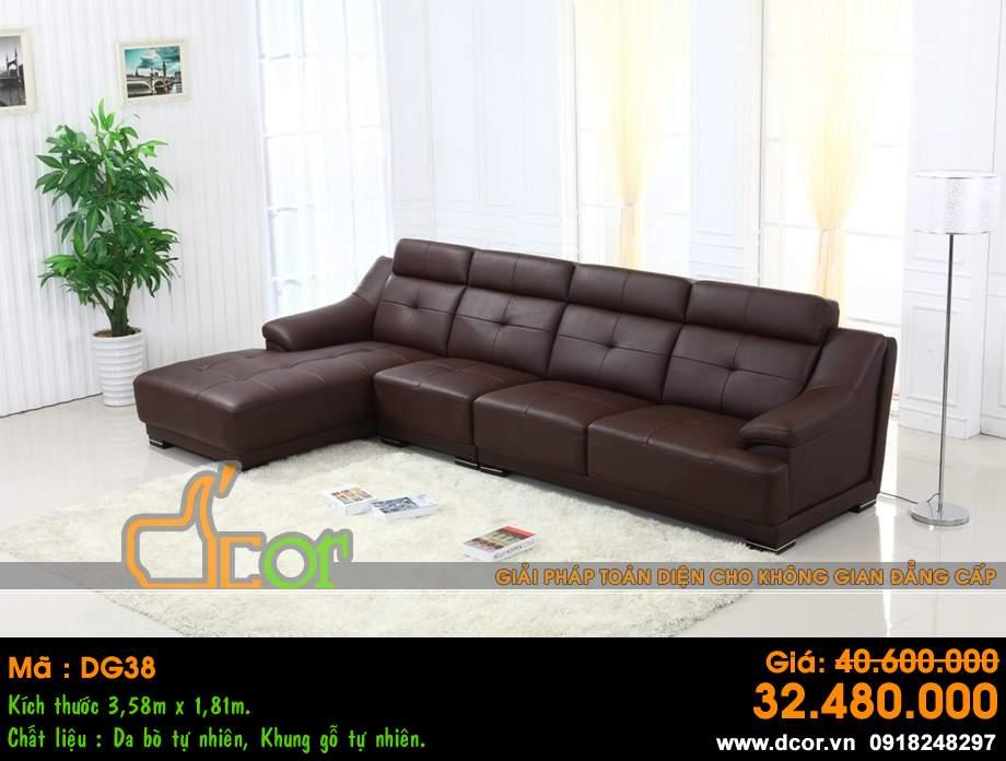 Mẫu ghế sofa da góc – Mã: DG38