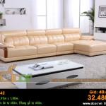 Mẫu ghế sofa da góc – Mã: DG42