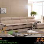 Mẫu ghế sofa da góc – Mã: DG43
