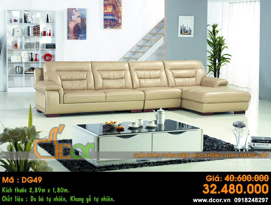 Mẫu ghế sofa da góc – Mã: DG49