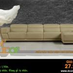 Mẫu ghế sofa da góc – Mã: DG50