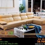 Mẫu ghế sofa da góc – Mã: DG51