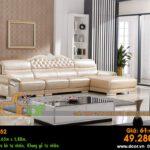 Mẫu ghế sofa da góc – Mã: DG52