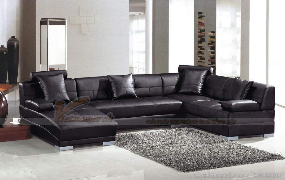 Ghế sofa da đen huyền bí mang ý nghĩa phong thuỷ độc đáo - 01