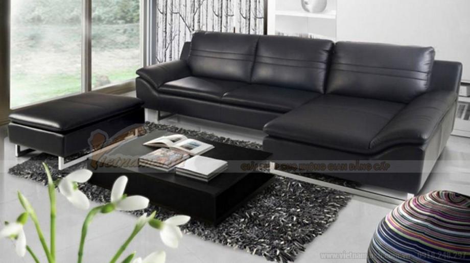 Ghế sofa da đen huyền bí mang ý nghĩa phong thuỷ độc đáo - 02