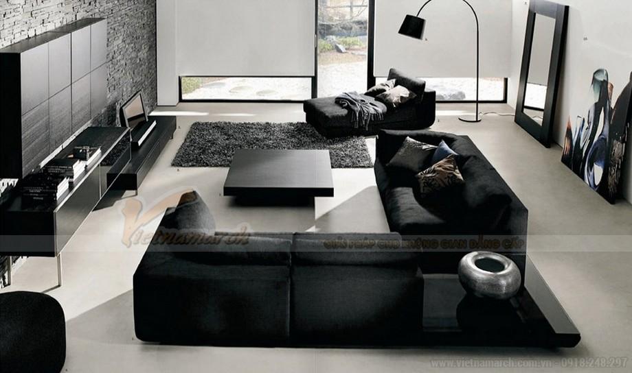 Ghế sofa da đen huyền bí mang ý nghĩa phong thuỷ độc đáo - 07